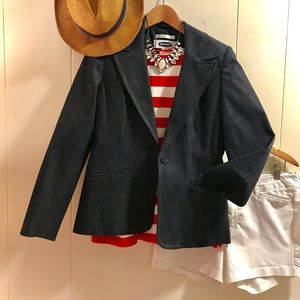 Old Navy denim stretch blazer